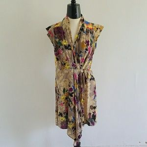 ANTHRO {PINKERTON} silk floral rinzu dress